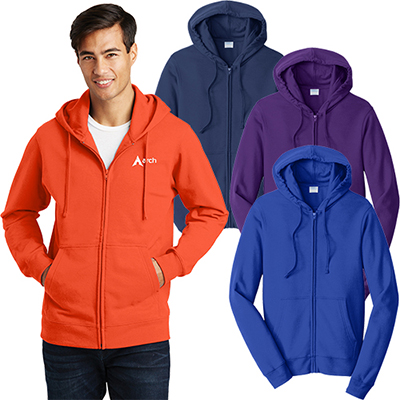 port & company® fan favorite™ fleece full-zip hooded sweatshirt