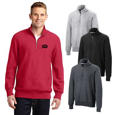 sport-tek®super heavyweight 1/4-zip pullover sweatshirt