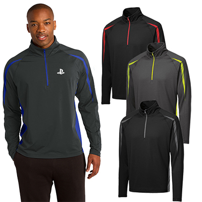 Sport-Tek® Sport-Wick®Stretch 1/2-Zip Colorblock