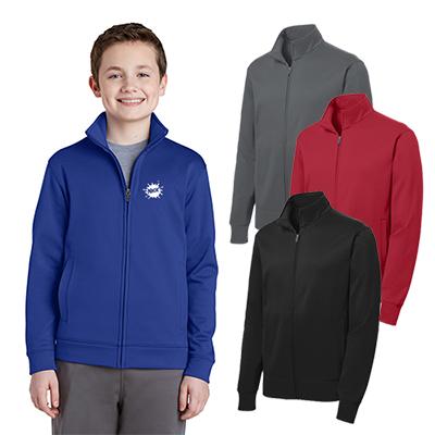 sport-tek®youth sport-wick®fleece full-zip jacket