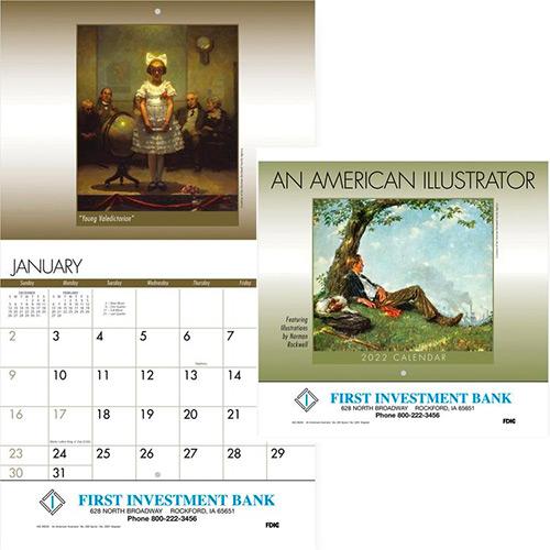Staples Calendar 2022.Custom Promotional American Staples Wall Calendar 2022 Imprinted Wall Calendars Promo Direct