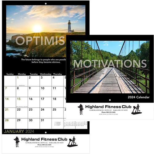 Staples Calendar 2022.Imprinted Motivations Staples Wall Calendar 2022 Promotional Wall Calendars Promo Direct