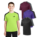 29122 - Sport-Tek® Youth PosiCharge® Competitor™ Sleeve-Blocked Tee