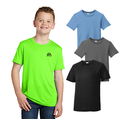 sport-tek®youth posicharge® competitor™ cotton touch™ tee