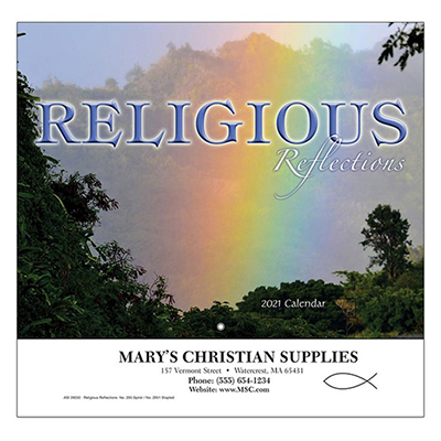 Religious Reflections Wall Calendar - Stapled