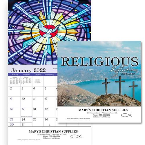 Religious Calendar 2022.Custom Promotional Staples Religious Reflections Wall Calendar 2022 Promotional Wall Calendars Promo Direct