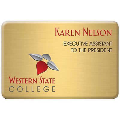 aspen standard name badge 3 x 2