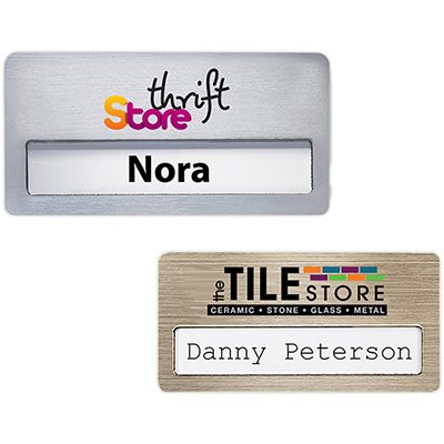 atlanta vogue name badge 3 x 1-1/2