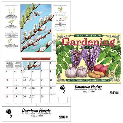the old farmers almanac gardening calendar - stapled 2019