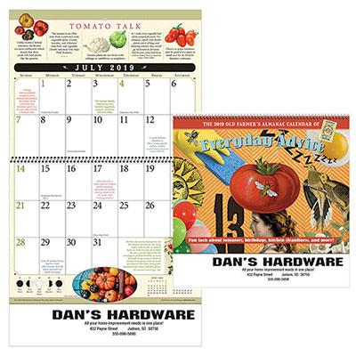 the old farmers almanac everyday advice calendar - spiral 2019