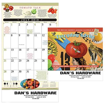 the old farmers almanac everyday advice calendar - stapled 2019