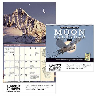 the old farmers almanac moon calendar - spiral 2019