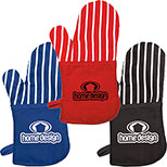 29197 - Oven Mitt with Stripes