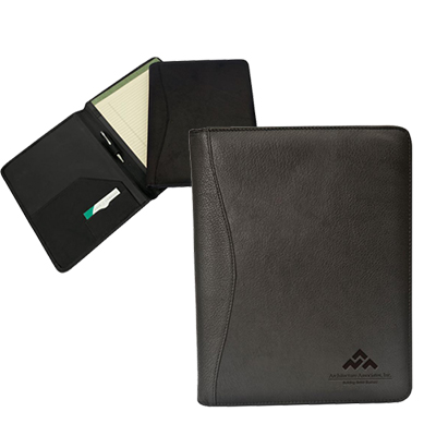 red rock leather meeting folder