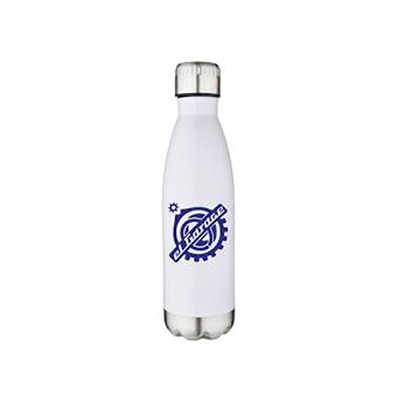 17 oz Stainless Vacuum Pop Bottles - White