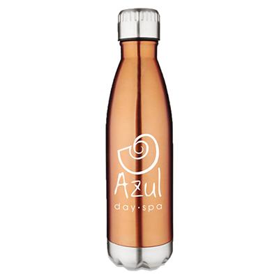17 oz. stainless vacuum pop bottles - copper