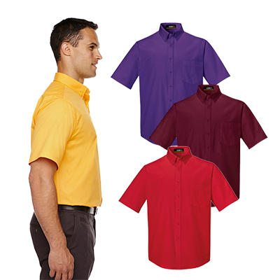 core 365 mens optimum short-sleeve twill shirt