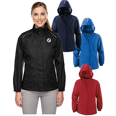 core 365 ladies climate seam-sealed lightweight jacket