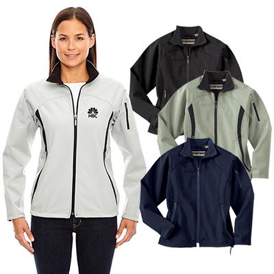 north end ladies three-layer fleece jacket