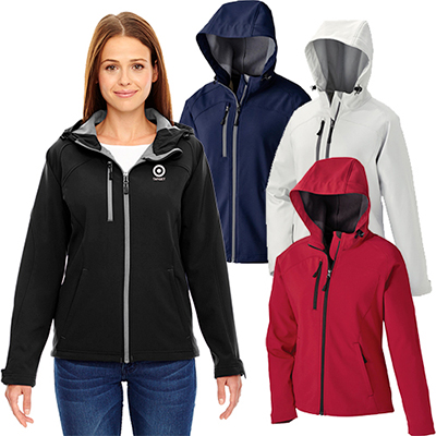 north end ladies prospect two-layer hooded jacket