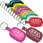 Custom Business Gifts, Round Rectangle Flexible Key Tags