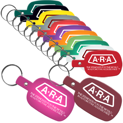 Flexible Key Tags (Round Rectangle)
