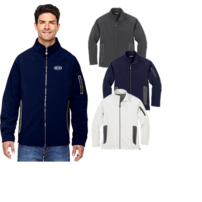North End Men's Three-Layer Fleece Bonded Technical Jacket