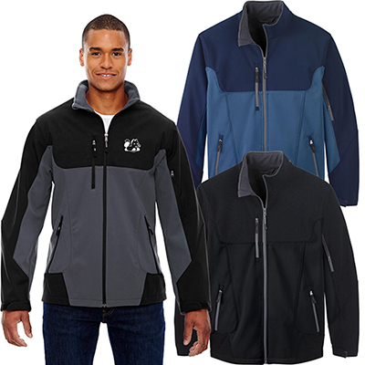 north end mens compass colorblock three-layer jacket