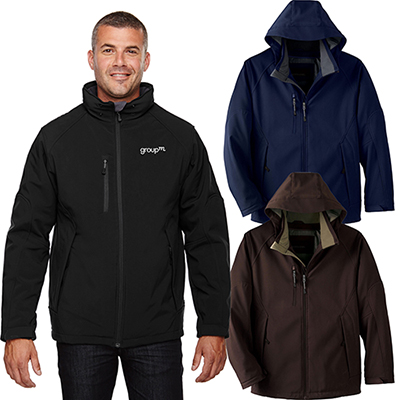 north end mens glacier insulated three-layer jacket