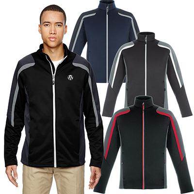 north end mens strike colorblock fleece jacket