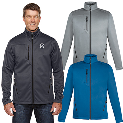 north end mens trace printed fleece jacket