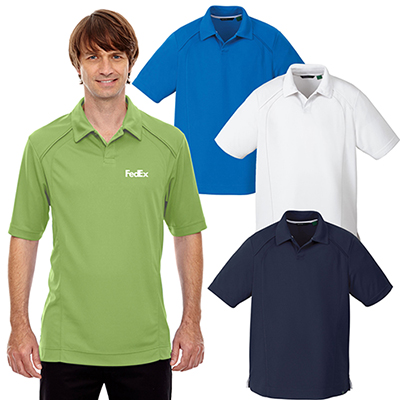 north end mens recycled polyester pique polo