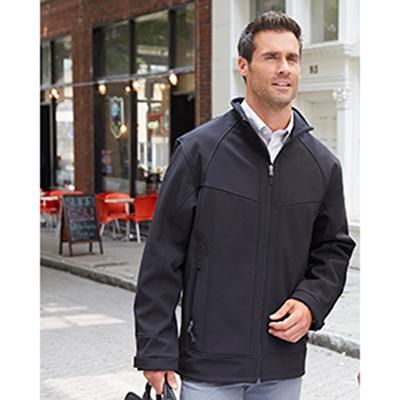 north end mens three-layer light bonded soft shell jacket