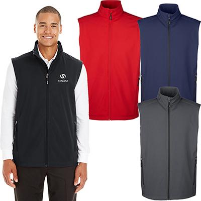 core 365 mens cruise two-layer fleece bonded  vest