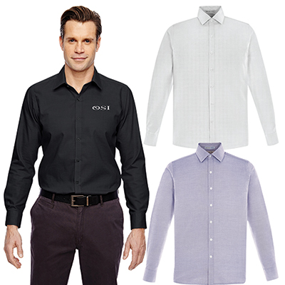 north end mens precise wrinkle-free taped shirt