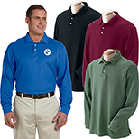 29630 - Devon & Jones Men's Pima Pique Long-Sleeve Polo