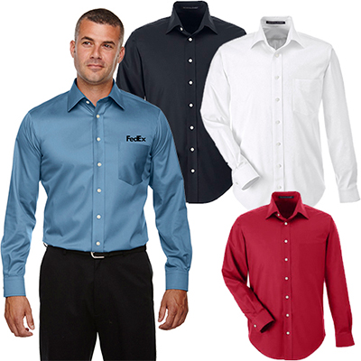 devon & jones mens solid stretch twill shirt