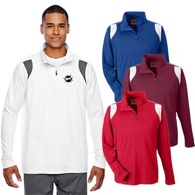 team 365 mens elite performance quarter-zip jacket