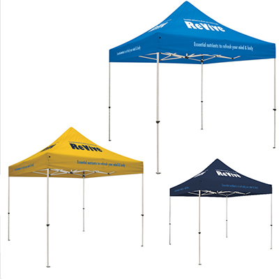 standard tent w/ 8 location imprint
