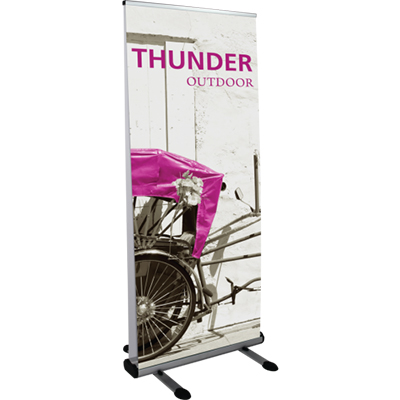 33.5x 79 thunder outdoor banner stand