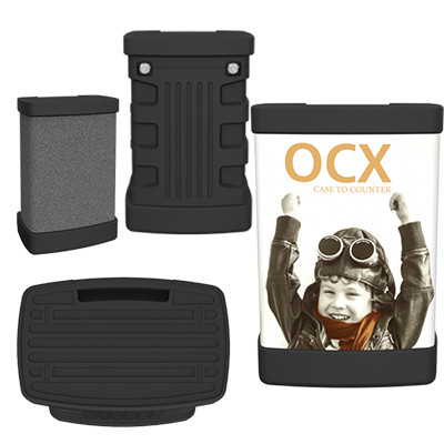 ocx standard wheeled display case