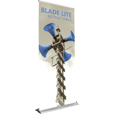 33.5 x 83 blade lite retractable banner stand