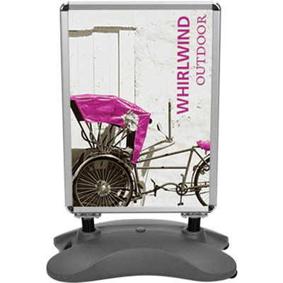 whirlwind double sided outdoor sign stand