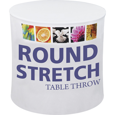 42 round stretch cocktail table throw