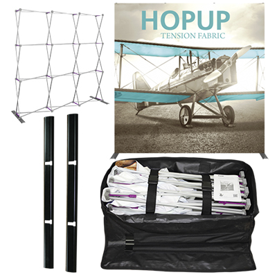 hopup 8ft straight full height fabric display
