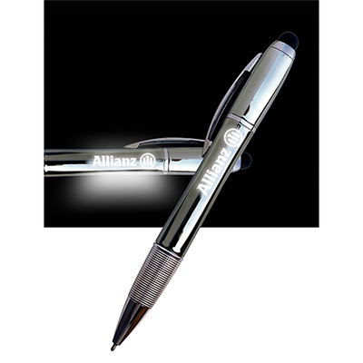 britestar lighted logo pen - gunmetal