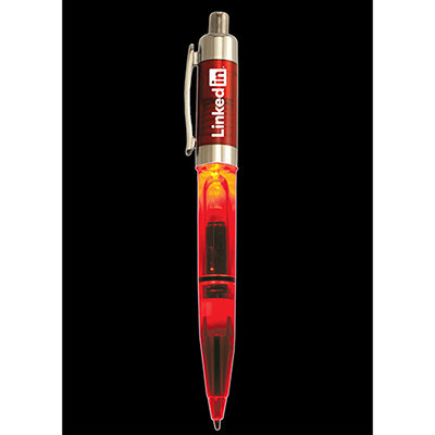 lighted economy standard pen - red