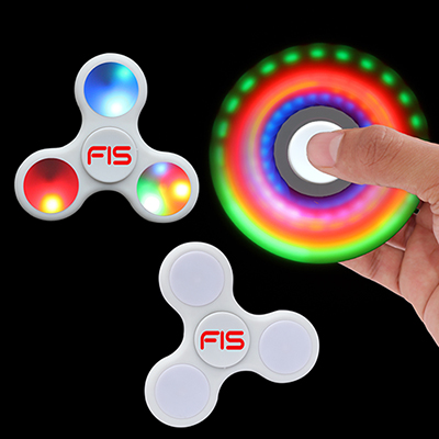 led lighted fidget spinner - white