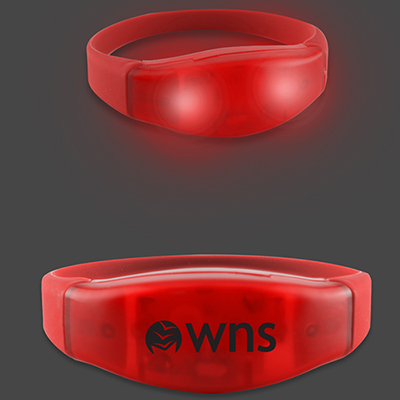 Power Up Flashing LED Bracelets - Red