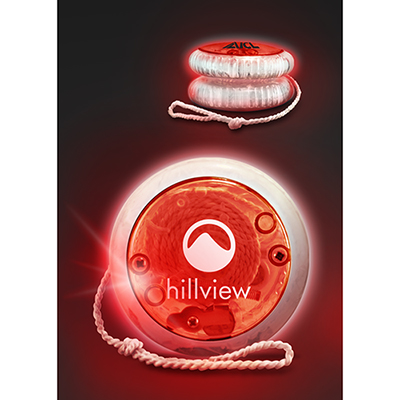 led lighted yoyo - red